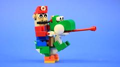 LEGO Yoshi & Mario (BRICK 101) Tags: lego nintendo mario yoshi