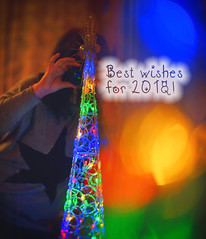 Wishing you all the best for the next year! (petrapetruta) Tags: wish colorful lights decorations bestwishes flickrfriday bokeh