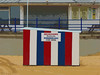 Deckchairs, Sunbeds and Windbreaks For Hire (Steve Taylor (Photography)) Tags: deckchairs sunbeds windbreaks forhire art digital architecture railing bench fence blue white red brown green grey sand beach uk gb england greatbritain unitedkingdom margate stripes seafront promenade