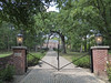 Wheaton, IL, Mack Road, Mansion and Gate (Mary Warren 9.7+ Million Views) Tags: wheatonil architecture building house residence mansion brick gate lamps wroughtiron nature trees green leaves foliage
