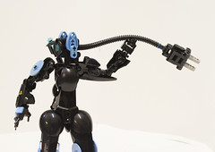 Omega Circuit (Ben Cossy) Tags: lego bionicle robot system mech power plug moc afol tfol biogram biotube shadowgear6335