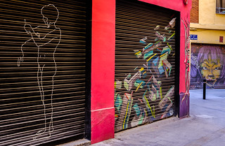 Local Shutter Art ( Valencian Street) (Fujifilm X100F 23mm f2 Compact) (1 of 1)