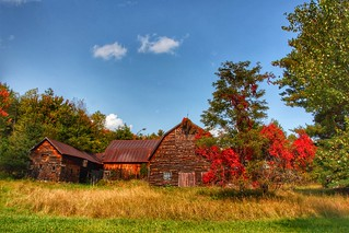 Lake Placid  New York - Vintage Homestead Abandoned -  Autumn