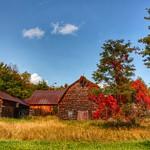 Lake Placid  New York - Vintage Homestead Abandoned -  Autumn thumbnail