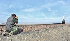 Your Truly In Action (Welsh Gold) Tags: coal train er jing colliery nanzhan spartan desert landscape sandaoling xinjiang province china js8358