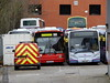 First Berkshire Slough depot - New Years Day 2018 (Berkshire Bus Pics) Tags: first berkshire 41403 rg51fwz 44528 sn62ayz dennis dart marshall capital alexander enviro 200 slough