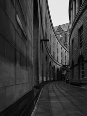 Library Walk (Explored Jan 2018) (another_scotsman) Tags: manchester librarywalk urban mono architecture city