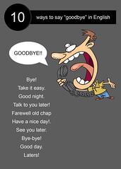 10 ways to say goodbye