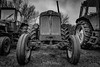 Among old friends (janmn76) Tags: old worn tractor blackandwhite bw farm rusty faithful machine nikon nikonphotography d7200 tamron opdagdanmark visitdenmark classic clouds