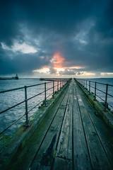 Sunrise (callumthompson) Tags: sunrise blyth blythbeach blythpier pier mood moody storm clouds coast seascape