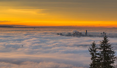 City In Clouds (Bun Lee) Tags: landscape architecture britishcolumbia buildings bunlee bunleephotography canada city cityscape clouds cloudy fogcouver foggy foggymorning nature skyline urban vancouver vancouverisawesome vancouverbc vancitybuzz vancity vancouverskyline