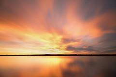 Dawn's Early Light (mclcbooks) Tags: sunrise dawn daybreak morning clouds sky lake reflections longexposure le landscape chatfieldstatepark lakechatfield colorado