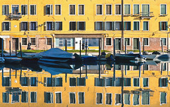venice reflections (poludziber1) Tags: street streetphotography skyline sky sea city colorful cityscape color colorfull reflection yellow venice venezia italia water urban architecture abstract mpt593 matchpointwinner