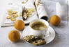 Orange on white (christina.todorov) Tags: coffee cup white coockies magazine glasses clementine morning still life