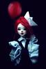 Birthday (Minuit ☆) Tags: bjd poupée poupées balljointeddoll doll dolls unoa sist chateau dollchateau kid msd 14 size white skin custom custo mohair clown portrait surreal photoshop photography lusis alchemic labo