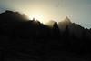 Day 34 of 40; diadem of solstafir beaming down from the spires of the Minarets (photography by Derek G) Tags: mountains ridgeline jagged landscape silhouette sunbeams solstafir anseladamswilderness wilderness sunrise morning dawn spires spire rock rays sunrays sun highsierra sierra camping hiking backpacking