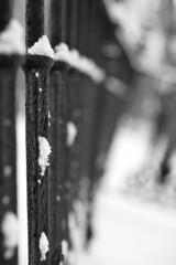 Grille / Fences (baldenbe (on/off)) Tags: bw nb noiretblanc nikon d700 micronikkor105mm fences grille cimetiere cemetery graveyard noterdamedebelmont neige snow