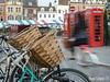 Cambridge (Iban Lopez (pepito.grillo)) Tags: ©ibanlopez d90 cambridge blurred borrosa bicicleta cycle cycling phonebox cabina cesta basket