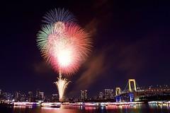 お台場レインボー花火 Odaiba Rainbow Hanabi 2017 (ELCAN KE-7A) Tags: 日本 japan 東京 tokyo 台場 daiba レインボー rainbow ブリッジ bridge イルミネーション ライトアップ illumination 花火 fireworks ペンタックス pentax k3ⅱ 2017