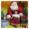 7. Portrait with Santa - Josefina (Foxy Belle) Tags: american girl mini christmas doll historic diorama 16 scale miniature ag santa claus scene barbie theater playscale tree chair red velvet