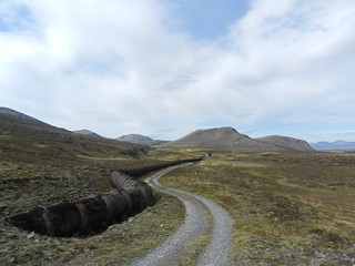 Follow the track, near Loch Droma, Highlands of Scotland, May 2017