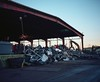 Scrap (ADMurr) Tags: cab850 la dtla scrap iron district evening mamiya 7 80mm lens kodak ektar film 6x7 mf