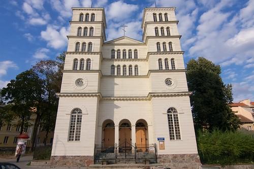 Dawny kościół ewangelicki w Lidzbarku Warmińskim od południowego zachodu