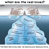 Saturday October 10, 2015 (THEPUBLICGROUP) Tags: editorialcartoon canada elxn42 media niqab issues election iceberg distraction campaign