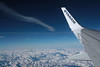 In the sky... (Ewa Zabówka) Tags: alps alpsitaly italy italia ryanair fly flight sky airplane plane wing airplanewing blue bluesky mountains clouds mountain journey flying winter nature snow coldtemperature cold transportation air