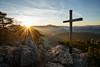Peaceful Quiet (matt.kueh) Tags: mountain summit cross sun trees rocks sunstar flare sunset peilstein landscape sonya7ii sonyfe1635mmf4 nöstach neuhaus