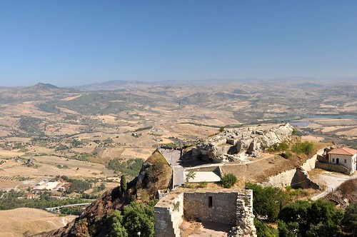 Enna, Castello di Lombardia, Ausblick vom Torre Pisana