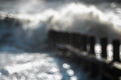 A Perfect Storm (Fourteenfoottiger) Tags: waves sea seaside beach coast groin surf water storm wind weather bokeh bubblebokeh meyergorlitztrioplan28100mm trioplan28100mm vintagelens vintagebokeh shadows nature sunlight winter abstract froth foam seaspray bubbles sparkly bright rough choppy