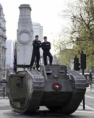 The Royal Tank Regiment, the oldest tank unit in the world commemorate 100 years since the Battle of Cambrai. (Defence Images) Tags: britisharmy royaltankregiment tankcorps 100years whitehall centaph london westminster army regiments theroyalarmouredcorps markivtank wwi b46 bigbute defence defense uk british military unitedkingdom gbr