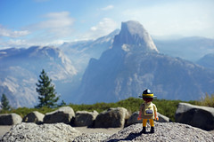 Half Dome - view from Glacier Point, Yosemite National Park (SomePhotosTakenByMe) Tags: playmobil ranger landscape landschaft panorama halfdome natur nature urlaub vacation holiday usa america amerika unitedstates california kalifornien outdoor yosemite nationalpark glacierpoint glacierpointroad explored inexplore miniatur miniature