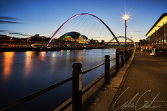 Happy New Year (TheApertureMan) Tags: 2018 new year happy best wishes newcastle bridge sunset water reflections