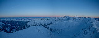 Blue hour at 2860m