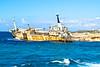 The Shipwreck (The_Kevster) Tags: nikon dslr d3300 cyprus boat shipwreck beach shore stgeorgesisland peyia mediterranean sea rust metal iron abandoned blue sky clouds light