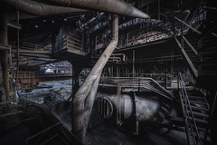 from the dark side (Martin Kriebernegg) Tags: lost lostplace urbex urban exploration abandoned decay derelict forgotten found former inside industrial industry indoors architectual building factory steel dark light hdr canon travel