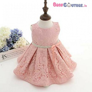 Blush Pink Lace Love Baby Party Dress