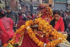 Hindu festival (posterboy2007) Tags: shatkon star hindu festival kathmandu nepal street garlands marigolds sony