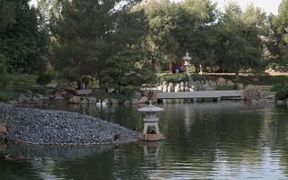 Two lanterns and bridges, Japanese Friendship Garden of Phoenix
