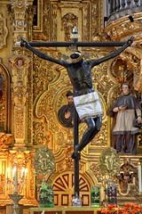 Black Christ (Chemose) Tags: mexico mexique mexicocity christ noir black statue bois wood cross croix église church cathedral cathédrale hdr canon eos 7d mars march