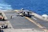180106-N-ZS023-030 (U.S. Pacific Fleet) Tags: ussamerica lha6 amphibiousassaultship sailors people usnavy usmc marines cpr3 comphibron3 commanderamphibioussquadron 15thmeu marineexpeditionaryunit arg aarg amaarg ama americaarg amphibiousreadygroup deployment 5thfleet areaofoperations aoo av8bharrier harrier flight flightops air aircraft marinemediumtiltrotorsquadronvmm161reinforced vmm161 liftoff pacificocean