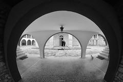 _DSC6206bwS (Giorgos Boutos) Tags: blackandwhite schwarzweis schwarzweisfotografie nikon monastery agialavra samyang 12mm samyang12mm fisheye greece nikonflickraward arch architecture