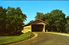 Covered Bridge, Lake of the Woods, Mahomet, Ill. (The Urbana Free Library Digital Collections) Tags: mahomet lakeofthewoods coveredbridge
