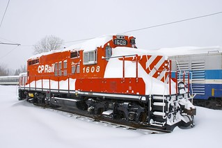CP 1608 in the snow