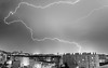 plus térrifiant en B/W (Janis-Br) Tags: blackandwhite noiretblanc lightning longexposure toulon éclair storm stormchaser thunderstorm thunderbolt city night
