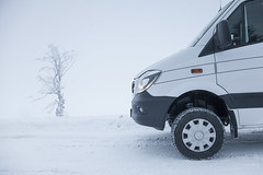 snow (crazyhorse_mk) Tags: schauinsland blackforest schwarzwald road snow winter ice cold tree sprinter 4x4 4wd camper van campervan