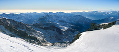 Over the mountains (Rico the noob) Tags: dof d850 2470mm nature outlook mountains outdoor glacier 2470mmf28 clouds 2017 zermatt schweiz published sky switzerland snow landscape panorama ice
