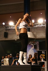 carshow promoder (themax2) Tags: dancer comment leggings erba girl hostess miniskirt beauty 2007 boots lariofiera